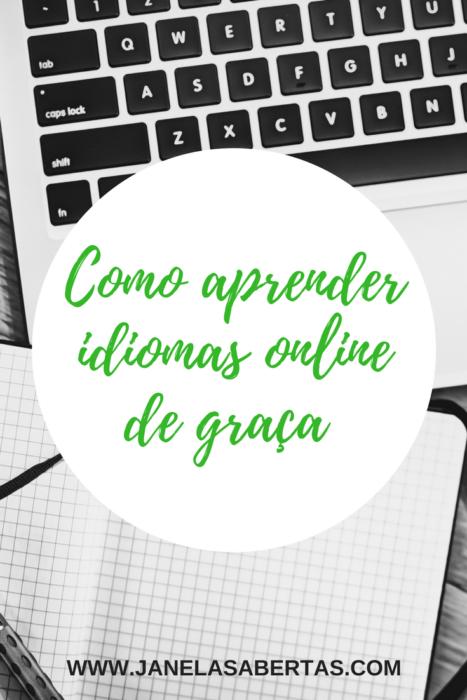 como aprender idiomas online de graça