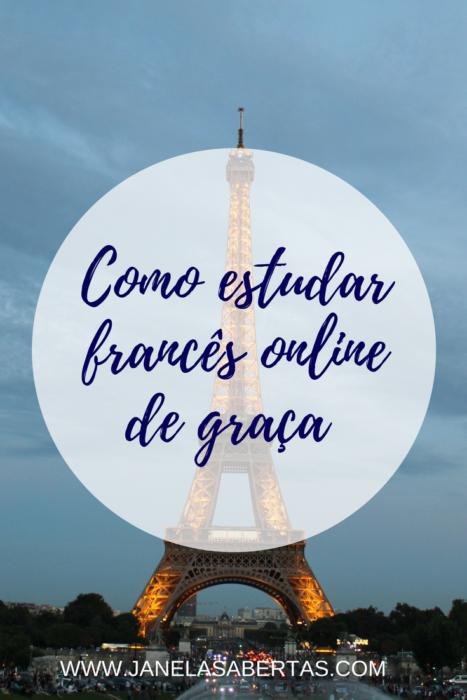 como estudar francês online de graça