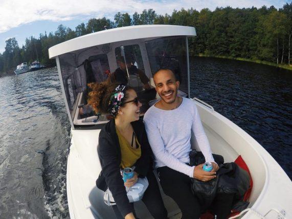 com um amigo egípcio em viagem