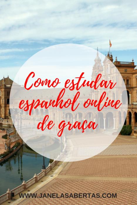 como estudar espanhol online de graça
