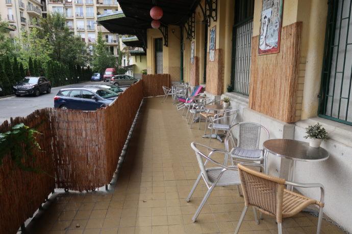 área comum do hostel