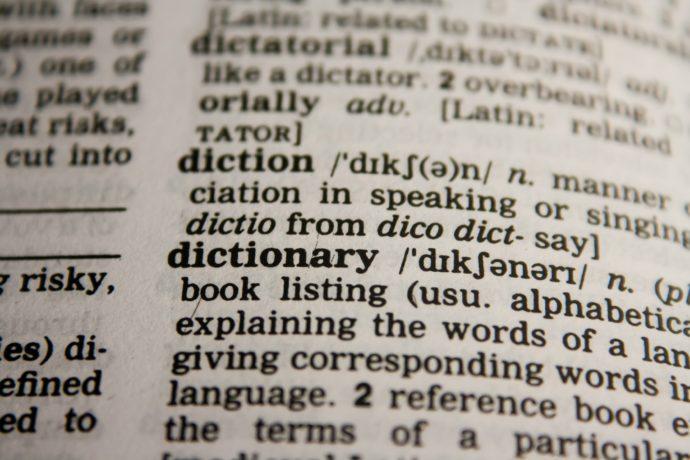 dicionário em inglês
