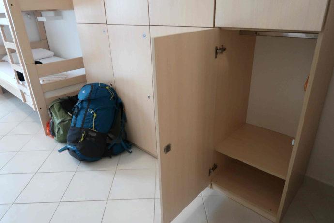 locker do albergue em dubrovnik