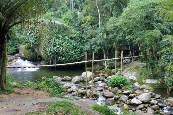 ponte que cruza o poço do tarzan