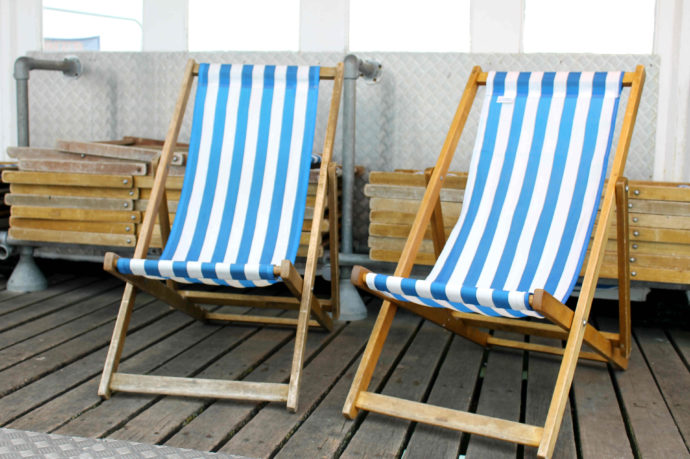 cadeiras de praia em brighton