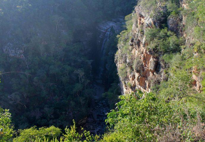 vista da cachoeira do mosquito