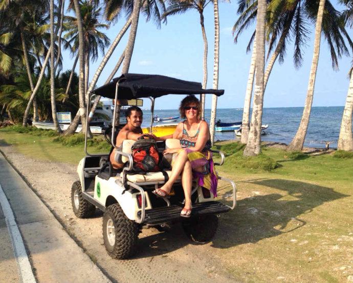 carrinho de golfe em san andrés