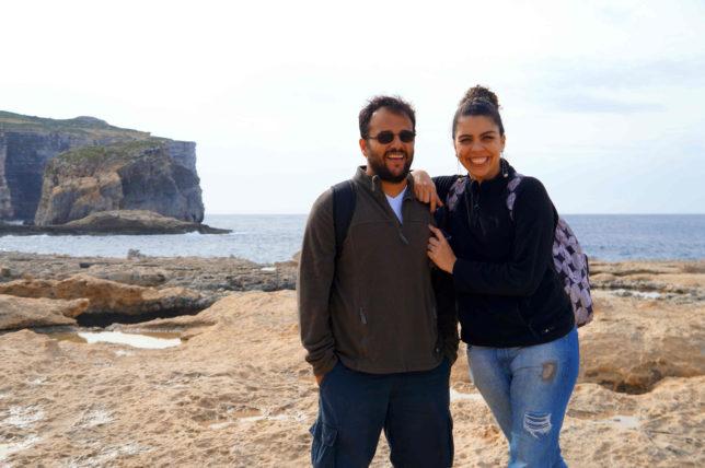marcela e o marido em malta