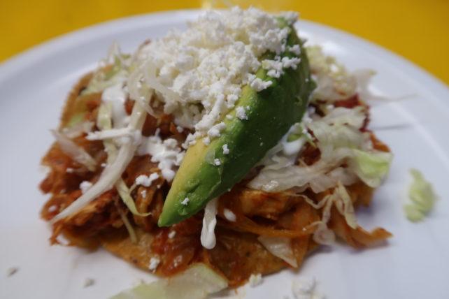 tostada no mercado de coyoacán na cidade do méxico