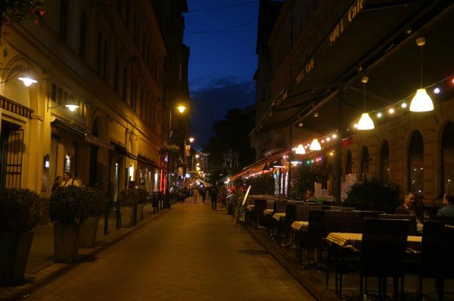 raday utca em budapeste