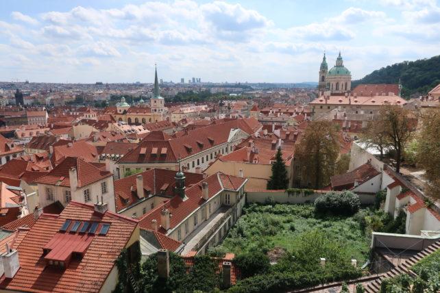 vista de praga desde o castelo