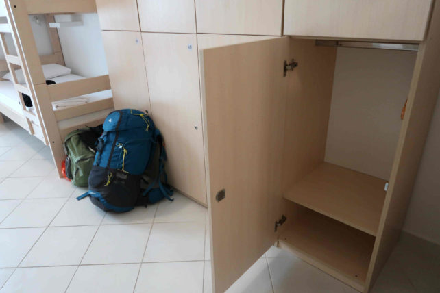 locker do hostel free bird em dubrovnik