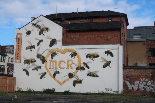 símbolo de abelha em manchester