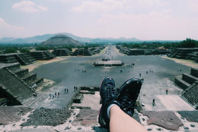 ruínas de teotihuacan perto da cidade do méxico