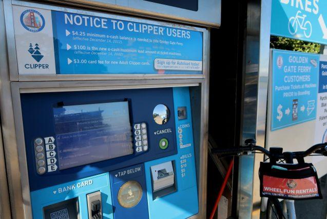 máquina de bilhetes da ferry em sausalito