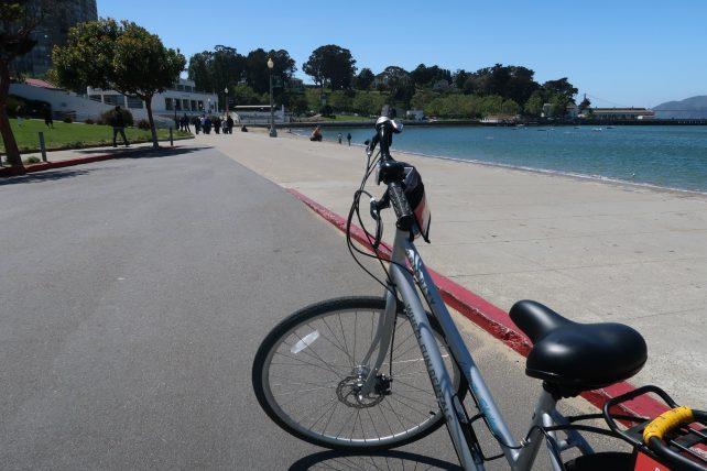 bicicleta alugada em são francisco