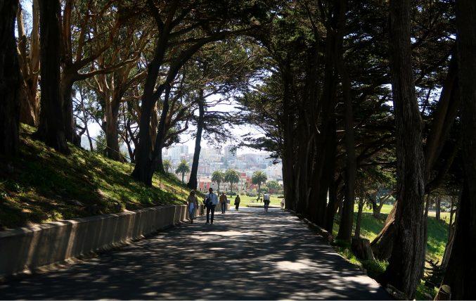 caminho até a golden gate