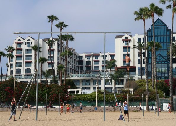 muscle beach em santa monica