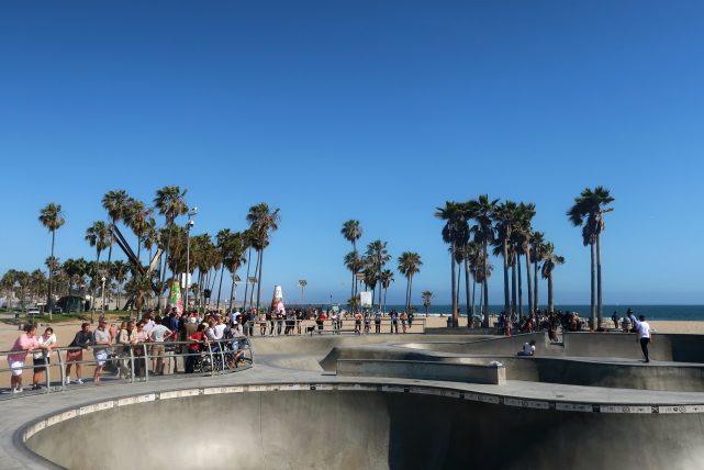 pista de skate em venice beach