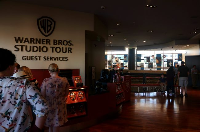 recepção do warner bros studio tour