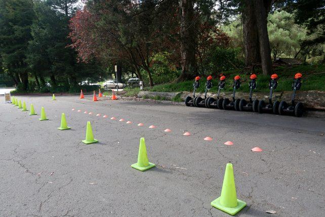 área de treino do passeio de segway no golden gate park