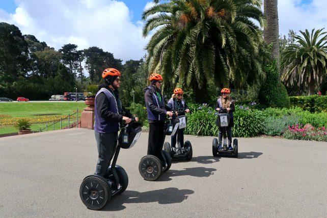 participantes do passeio de segway no golden gate park