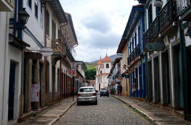 rua em mariana, minas gerais