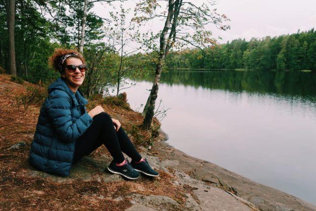 lago na Finlândia