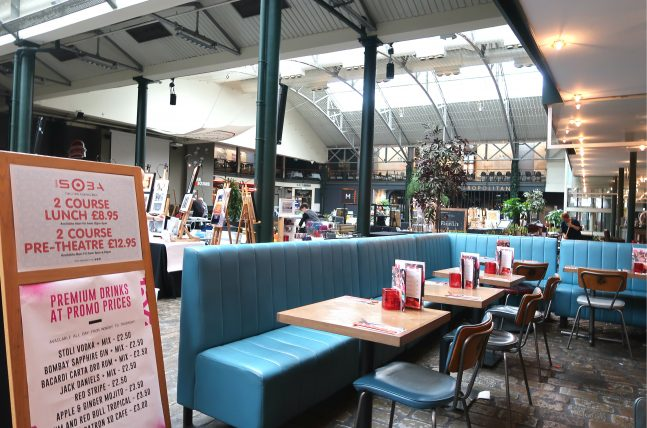restaurante no merchant market em glasgow