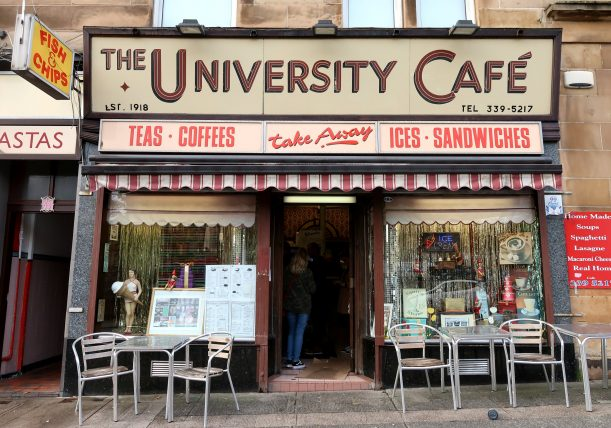 the university café no westend de glasgow