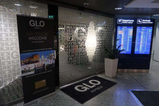 entrada do hotel no aeroporto de helsinque