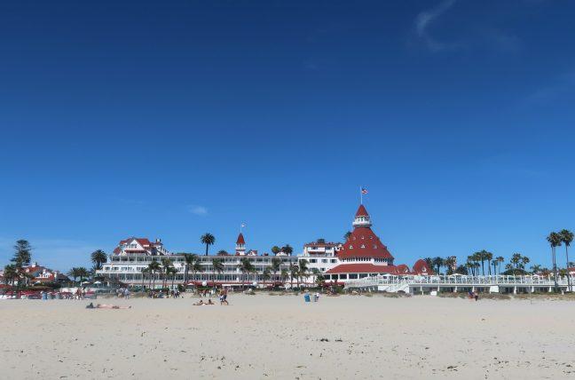 hotel del coronado visto da praia
