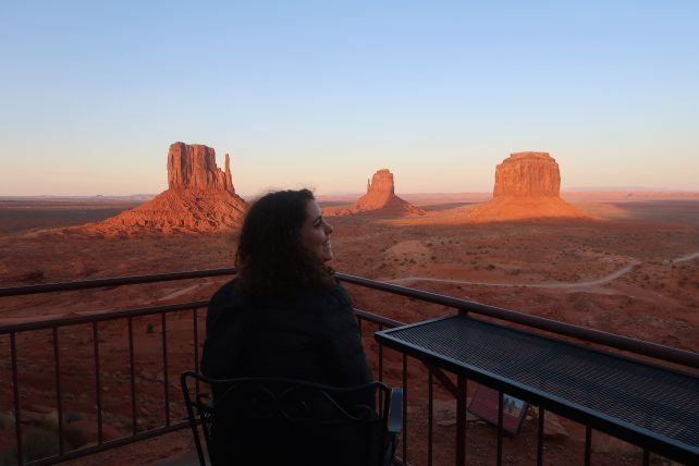 vista desde o restaurante do hotel the view no monument valley