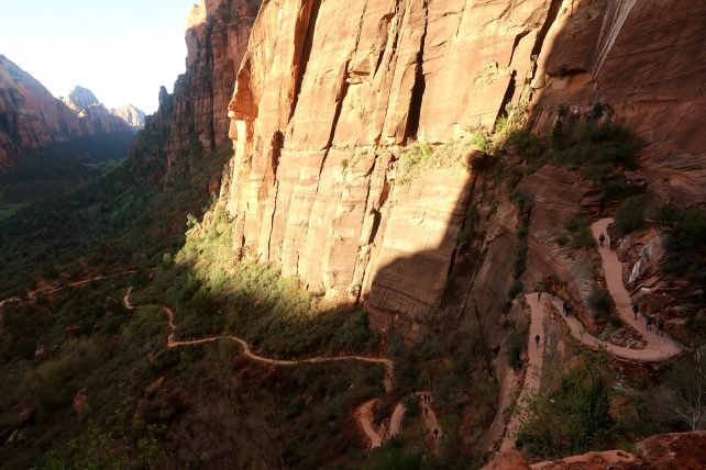 trilha angel's landing no zion