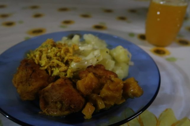 prato de comida no vale do pati