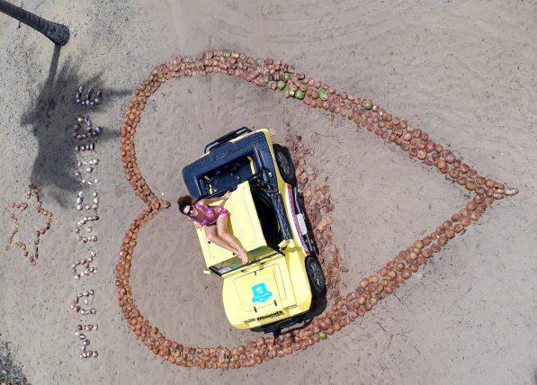foto do drone humano