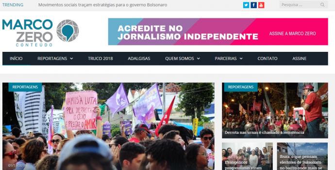 jornalismo independente do marco zero conteúdo