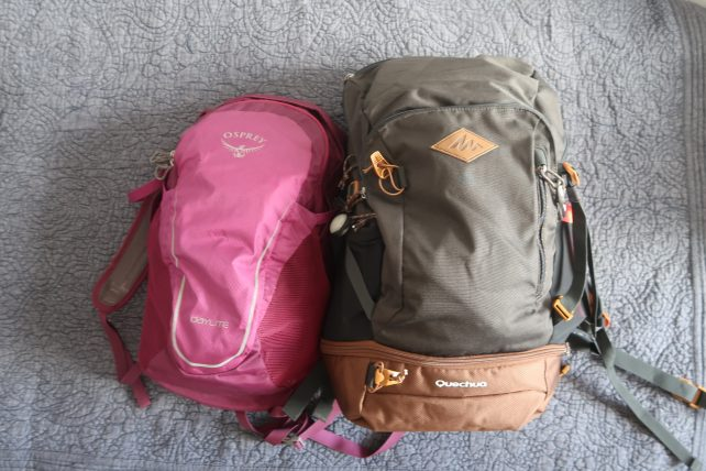 mochilas para a travessia do vale do pati