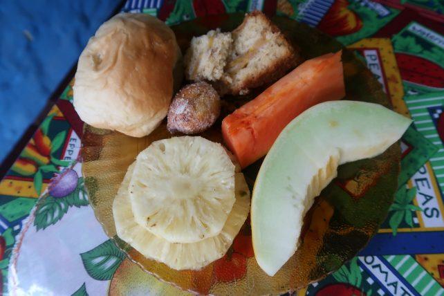 café da manhã no pati