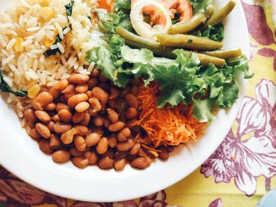 almoço vegano