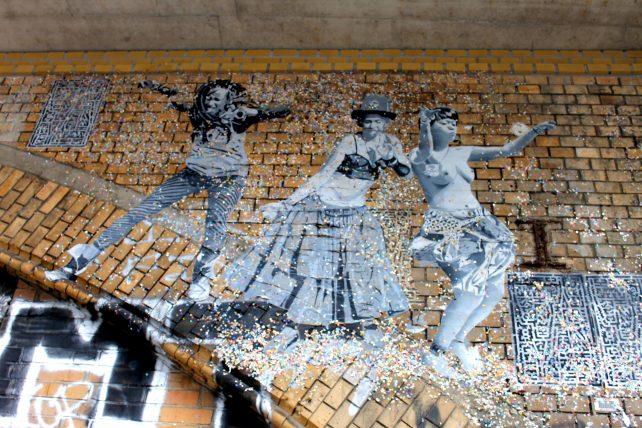 muro grafitado em berlim