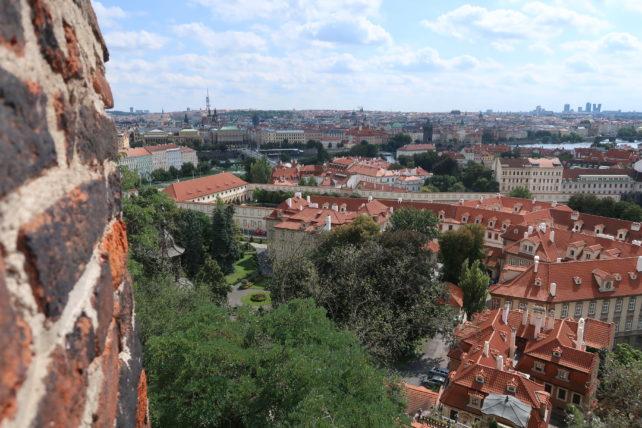vista desde o castelo de praga