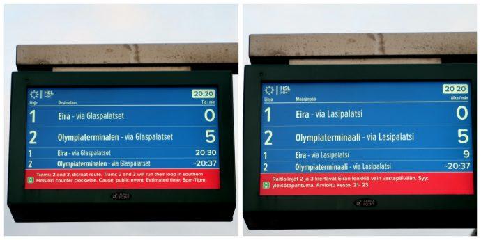 informações do transporte público em helsinque