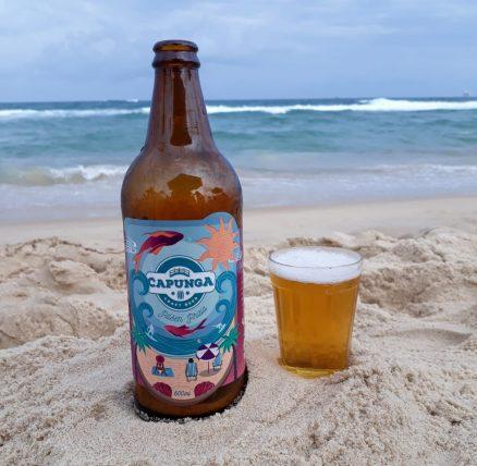 cerveja capunga na praia