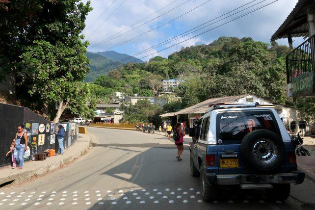 rua principal de minca