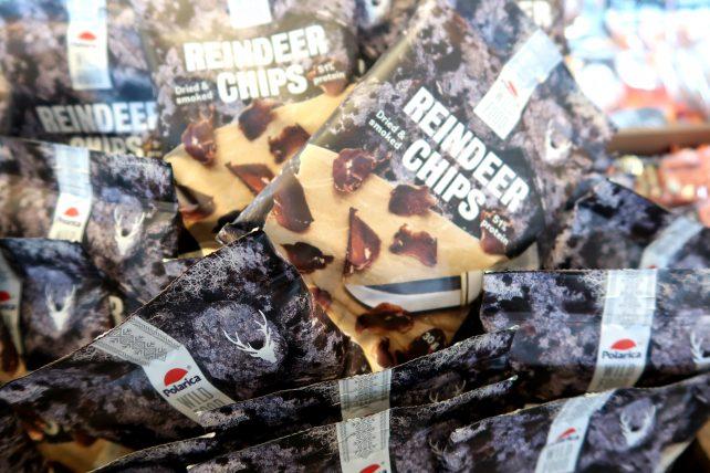 chips de carne de rena defumada