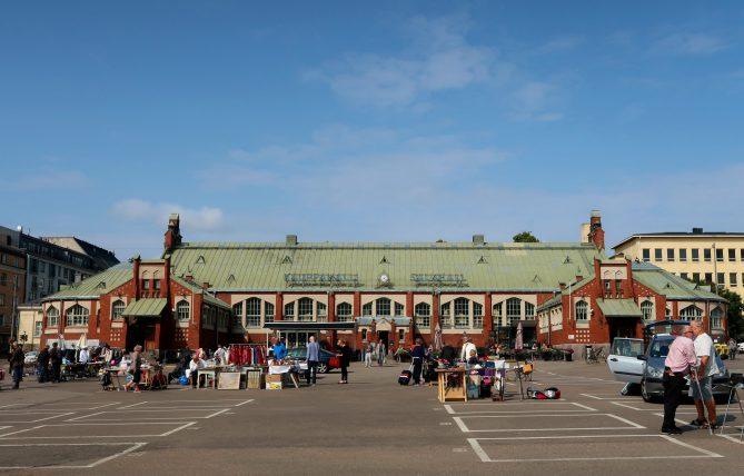 mercado gastronômico em helsinque