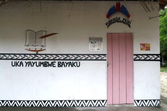 biblioteca na comunidade de nova esperança