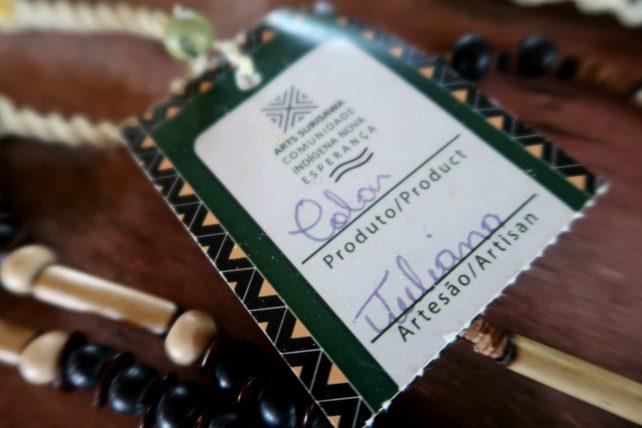 artesanato indígena em nova esperança