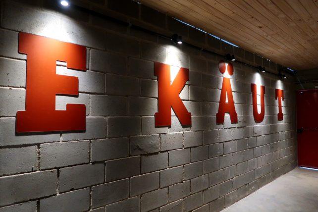 entrada da fábrica da ekaut